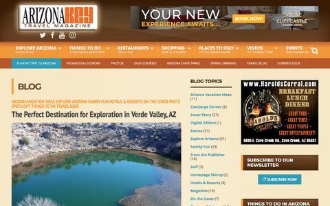 Screenshot of Blog arizonakey.com - Blog | Arizona Travel Guide KEY Magazine - captured July 30, 2018
