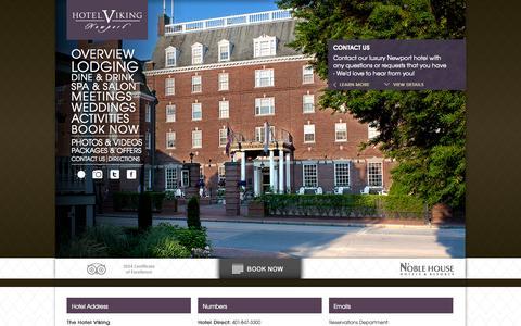Screenshot of Contact Page hotelviking.com - Newport Hotels Rhode Island | Luxury Hotels in Newport RI | Hotel Viking - captured Oct. 26, 2014