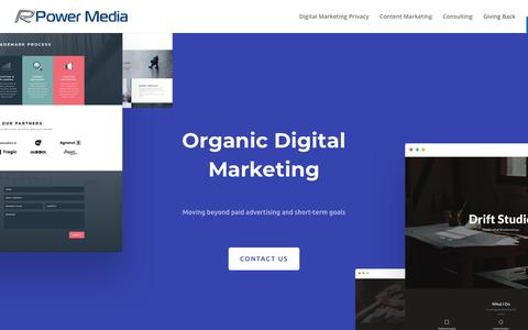 Screenshot of Home Page rpowermedia.com - Brand | Privacy | Consulting | Organic Digital Marketing - RPower Media - captured Oct. 20, 2018