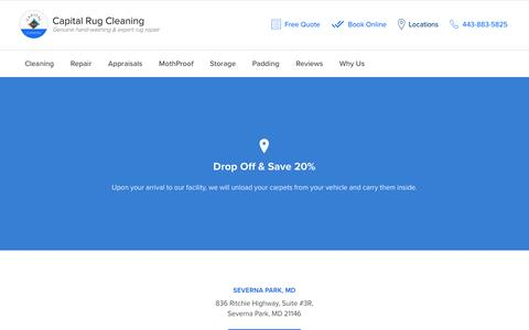 Screenshot of Locations Page capitalrugcleaning.com - Locations - Capital Rug Cleaning - captured May 14, 2017
