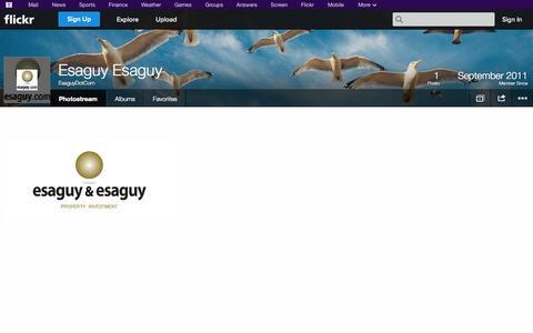 Screenshot of Flickr Page flickr.com - Flickr: EsaguyDotCom's Photostream - captured Oct. 22, 2014