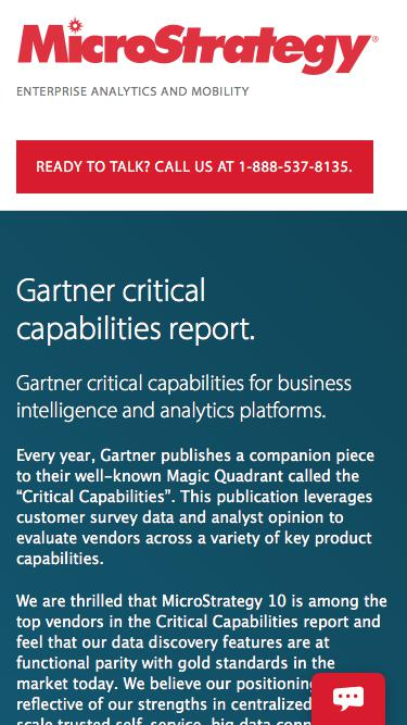 Gartner critical capabilities for BI | MicroStrategy