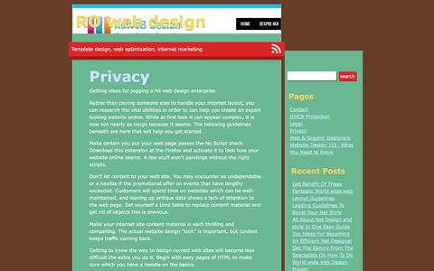 Privacy | RO web design