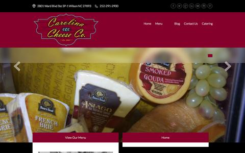 Screenshot of Home Page carolinacheeseco.com - Home - Carolina Cheese Company - captured Oct. 2, 2014