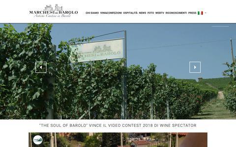 Screenshot of Home Page marchesibarolo.com - Home - Marchesi di Barolo Spa - Antiche cantine in Barolo - captured Dec. 20, 2018