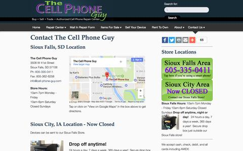 Screenshot of Contact Page cell-phone-guy.com - Contact The Cell Phone Guy | The Cell Phone Guy - captured May 2, 2017
