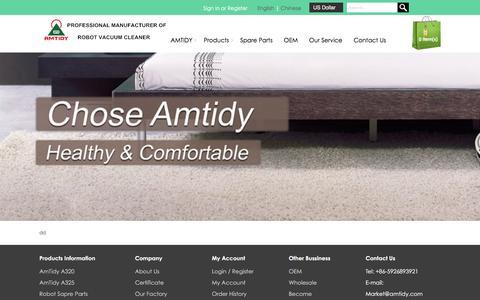 Screenshot of FAQ Page amtidy.com - FAQs : AmTidy | AmTidy Robot | AmTidy Robot Vacuum Cleaner - AmTidy.com - captured Feb. 13, 2016