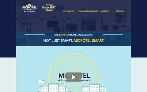 Screenshot of Developers Page masterbuilthotels.com - Microtel Canada - captured Aug. 10, 2016