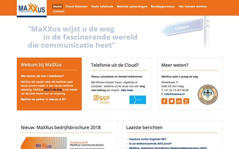 Screenshot of Home Page maxxus.nl - MaXXus Communications - captured Oct. 1, 2018