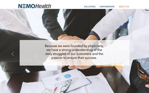 Screenshot of About Page nemohealth.com - NEMO Health - Practice Improvement Company - captured Oct. 18, 2018