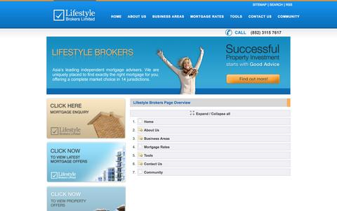 Screenshot of Site Map Page lfsbrokers.com - Sitemap: Lifestyle Brokers unbeatable Range of Mortgage Services - captured Oct. 2, 2014