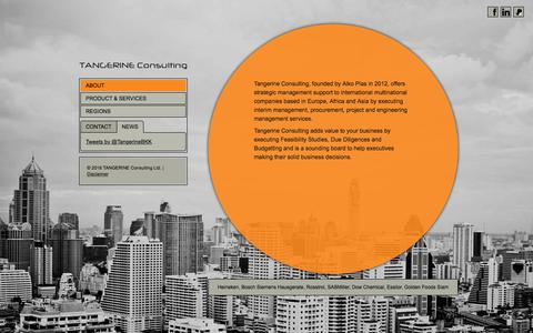Screenshot of Home Page tangerineconsulting.asia - Tangerine Consulting - strategic management, interim management, procurement, project and engineering management services - captured Feb. 23, 2016