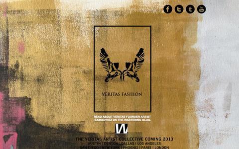 Screenshot of Home Page liveveritas.com - Veritas Fashion - captured Oct. 9, 2014