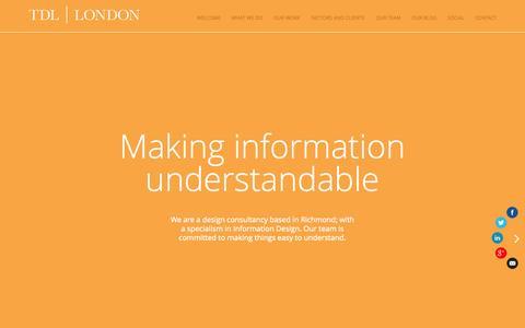 Screenshot of Home Page tdl-london.com - Bid Graphics Design, Tender Diagrams & Proposal Design. - captured Jan. 30, 2015