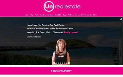 Screenshot of Home Page unre.com.au - Unrealestate Coffs Coast > Home - captured Aug. 18, 2017
