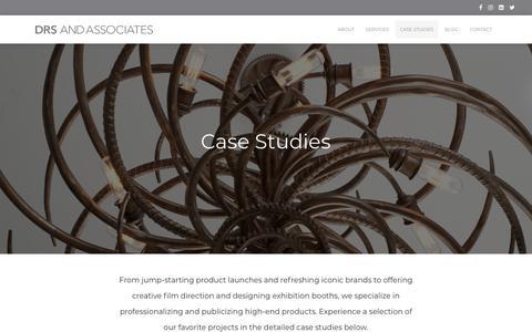 Screenshot of Case Studies Page drsandassociates.com - Case Studies | DRS and Associates - captured Sept. 20, 2018