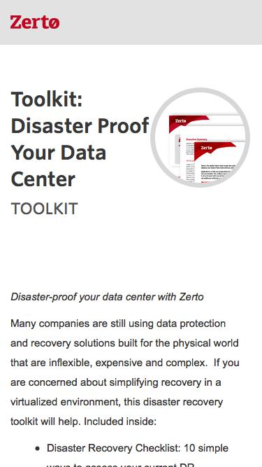 Mission-Critical Disaster Recovery in the Virtual World