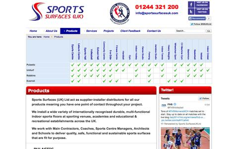 Screenshot of Products Page sportssurfacesuk.com - Products - Sports Surfaces UK Ltd - captured Oct. 6, 2014