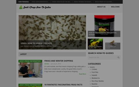 Screenshot of Blog joshsfrogs.com - Josh's Frogs How-To Guides for Reptiles & Amphibians - - captured Jan. 9, 2016