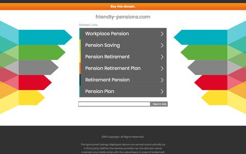 Screenshot of Home Page friendly-pensions.com - friendly-pensions.com - captured Aug. 23, 2018