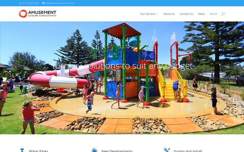 Screenshot of Home Page alconsultants.com.au - Waterslides and Waterplay sales and consulting in Australia and New Zealand - captured Sept. 10, 2015