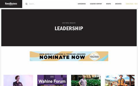 Screenshot of Team Page hawaiibusiness.com - Leadership – Hawaii Business Magazine - captured Sept. 27, 2018