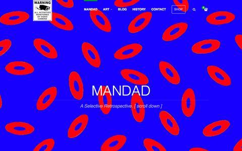 Screenshot of Home Page mandad.com - Mandad - captured Feb. 4, 2016