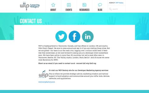 Screenshot of Contact Page wip.org - Contact Us - Wireless Industry Partnership - captured Sept. 24, 2014