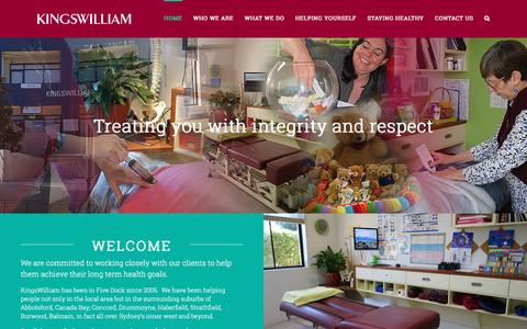 Screenshot of Home Page kingswilliam.com.au - Home | KingsWilliam - Five Dock - captured Nov. 27, 2016
