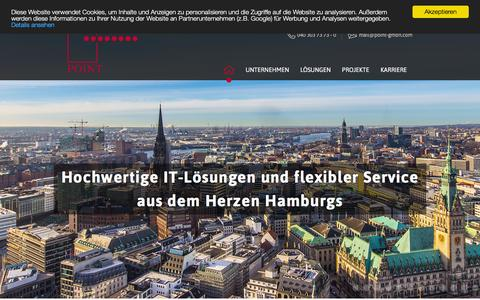 Screenshot of Home Page point-gmbh.com - Softwareentwicklung und IT Beratung in Hamburg – POINT. - captured June 8, 2016