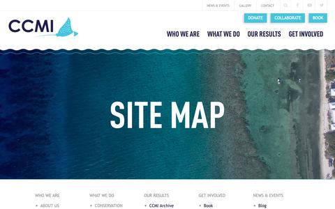 Screenshot of Site Map Page reefresearch.org - Site Map | - captured Sept. 27, 2018