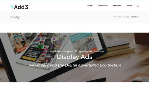 Display Advertising Services & Online Media Buying | Add3