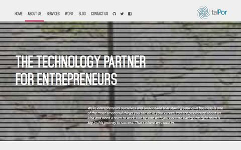 Screenshot of About Page talpor.com - About Us - talPor Solutions - captured Oct. 9, 2014