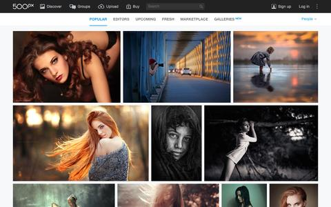 Screenshot of Team Page 500px.com - Most Popular People Photos on 500px Right Now - captured Dec. 15, 2015