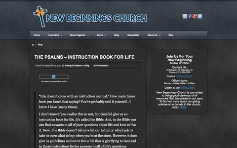 Screenshot of Blog newbeginchurch.com - Blog Archives - New Beginnings Church - captured Feb. 14, 2016