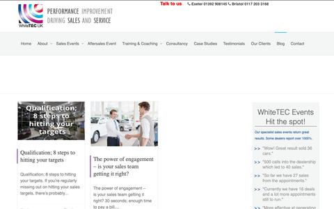 Screenshot of Press Page whitetec.co.uk - News – WhiteTec – Experts In The Automotive Retail Industry - captured Oct. 20, 2018