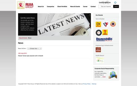 Screenshot of Press Page ruiagroup.co.in - Ruia Group : News - captured Oct. 7, 2014