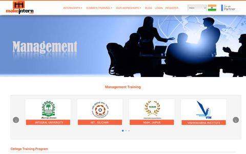 Screenshot of Team Page makeintern.com - Management Training, Management Training in India - captured July 27, 2018