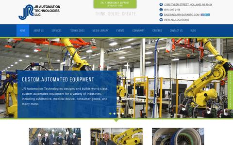 Screenshot of Home Page jrauto.com - Custom Automated Equipment from JR Automation Technologies - captured April 18, 2017