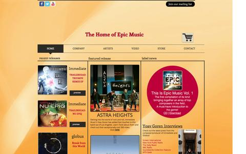 Screenshot of Home Page imperativarecords.com - Imperativa Records - captured Jan. 8, 2016