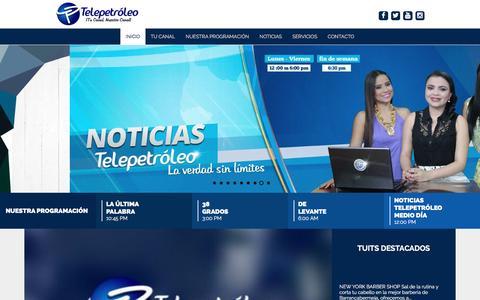 Screenshot of Home Page telepetroleo.com - Canal Telepetróleo ¡Tu canal. Nuestro canal! - captured Feb. 7, 2016