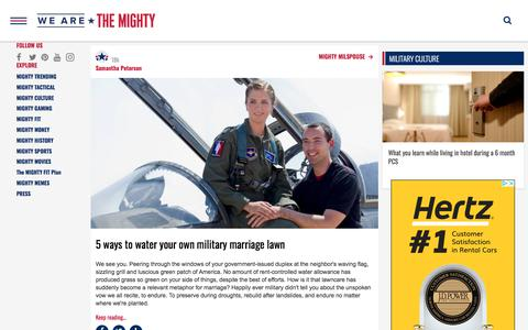 Screenshot of Press Page wearethemighty.com - Americas Military Entertainment Brand - MIGHTY TRENDING - captured Feb. 19, 2020
