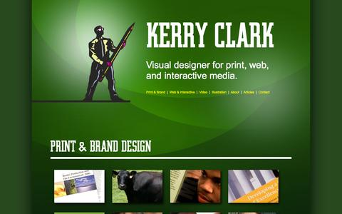 Screenshot of Home Page kerrydesign.com - Kerry Design and Illustration | Kerry Clark | Visual Designer - captured Oct. 6, 2014