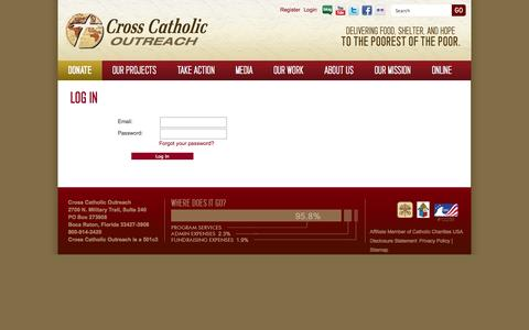 Screenshot of Login Page crosscatholic.org - Log In (Cross Catholic Outreach) - captured Oct. 3, 2014