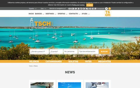 Screenshot of Press Page topsailingcharter.com - News - Top Sailing Charter - captured Aug. 19, 2016