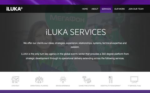 Screenshot of Services Page iluka.co.uk - Services - captured Sept. 30, 2014