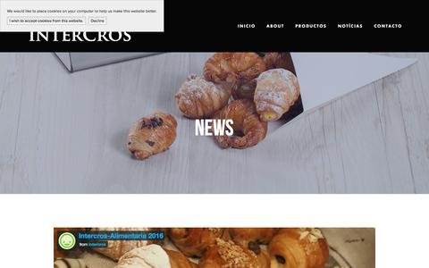Screenshot of Press Page intercros.com - News - captured Nov. 16, 2016