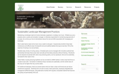 Screenshot of Team Page americannativenursery.com - Sustainable Landscape Management - American Native Nursery - captured Sept. 30, 2014