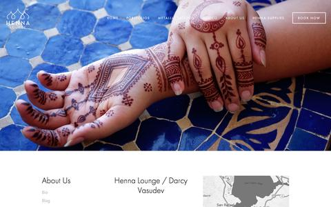 Screenshot of Contact Page hennalounge.com - Mehndi artist in Oakland and San Francisco — Henna Lounge - captured July 21, 2015