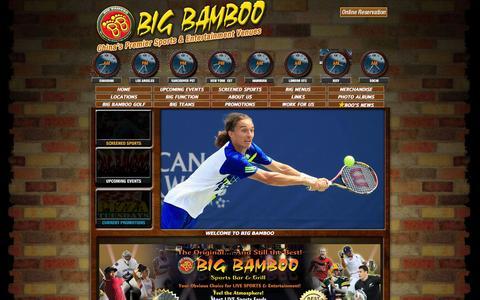 Screenshot of Home Page bigbamboo.asia - Big Bamboo - Your Favourite Sports Bar & Grill - captured Jan. 24, 2015